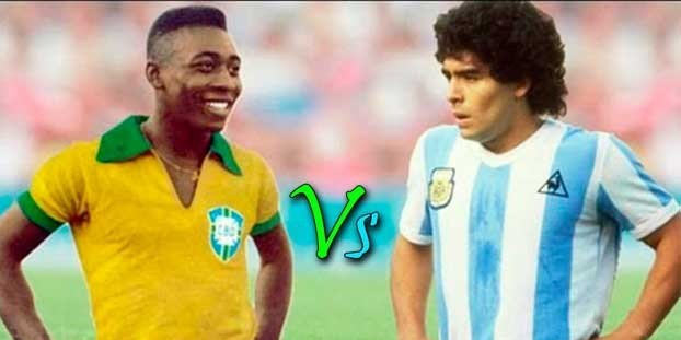 Pele we Maradona